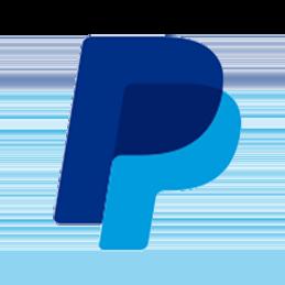 Dark blue letter P overlapping light blue letter P forming PayPal logo